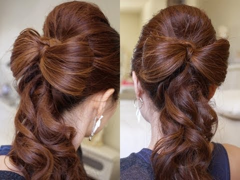 Half-Up-Half-Down-Bow-Hairstyles