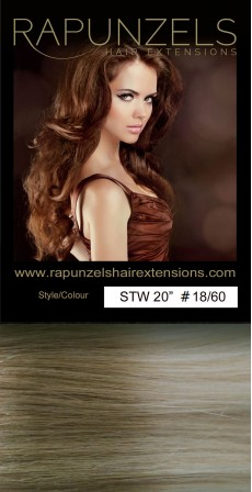 "65 Gram 20"" Hair Weave/Weft Colour #18/60 Dip Dye/Ombre (Half Head)"