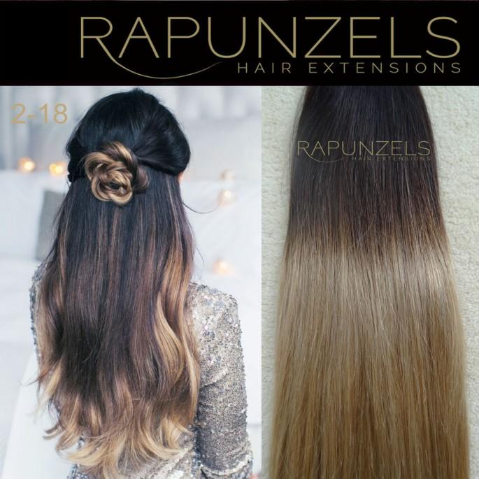 110 Gram 20 Hair Weave Weft Colour 2 18 Dip Dye Ombre Full Head