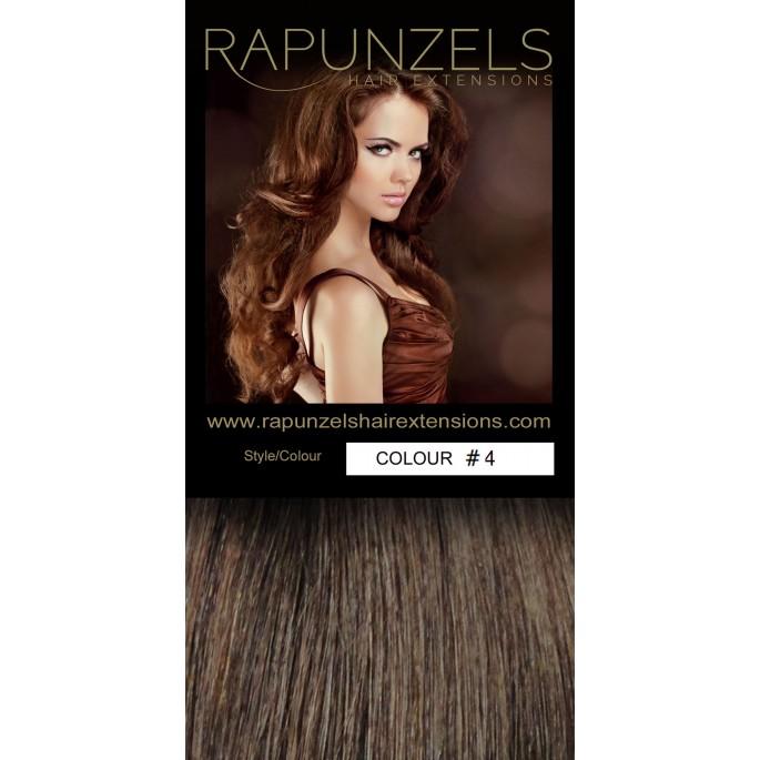 110 Gram 20 Hair Weaveweft Colour 4 Medium Chocolate Brown Full