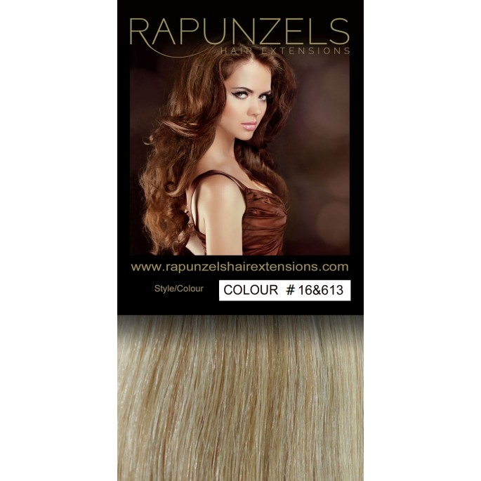 Cheap clip in hair extensions in uk rapunzels 100 gram 20 clip in hair extensions colour 16613 caramel blonde bleach blonde pmusecretfo Image collections