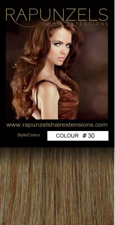 "1 Gram 20"" Pre Bonded Stick Tip Colour #30 Auburn (25 Strands)"