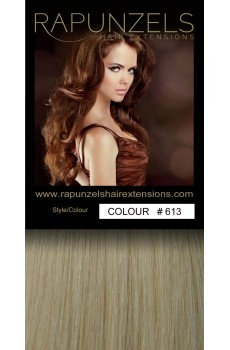 "1 Gram 20"" Pre Bonded Nail Tip Colour #613 Bleach Blonde (25 Strands)"