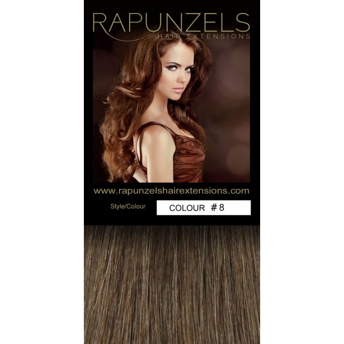 100 Gram 20 Clip In Hair Extensions Colour 8 Light Golden Brown 7