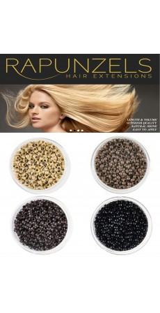 Nano Beads (100 beads) Colour Light Brown - Free Delivery