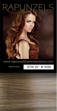 "110 Gram 18"" Hair Weave/Weft Colour #18/60 Beige Bonde to Light Blonde Dip Dye/Ombre (Full Head)"