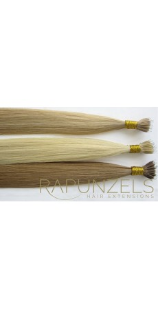 "1 Gram 18"" Nano Tip Colour #8 Light Golden Brown (25 Strands)"