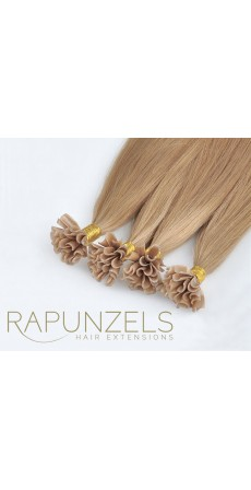 "0.5 Gram 20"" Pre Bonded Nail Tip Colour #24 Medium Gold Blonde (25 Strands)"