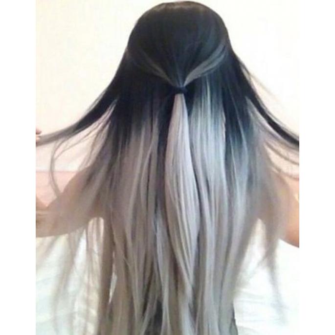 65 Gram 20 Quot Hair Weave Weft Colour 1b Grey Dip Dye Ombre