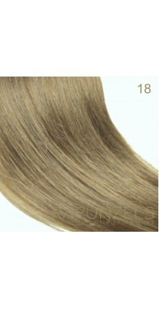"0.5 Gram 18"" Pre Bonded Nail Tip Colour #18 Dark Beige Blonde (25 Strands)"