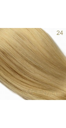 "0.5 Gram 18"" Pre Bonded Stick Tip Colour #24 Medium Gold Blonde (25 Strands)"