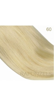 "0.5 Gram 16"" Pre Bonded Nail Tip Colour #60 Lightest Blonde (25 Strands)"