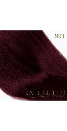 "0.5 Gram 18"" Pre Bonded Stick Tip Colour #99J Cheryls Burgundy (25 Strands)"