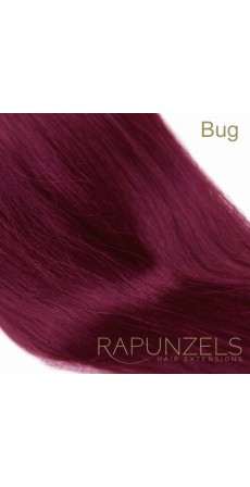 "0.5 Gram 18"" Pre Bonded Nail Tip Colour #HOT BUG Bright Burgundy (25 Strands)"