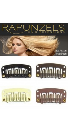 Snap Clips for clip in hair extensions (10 Clips) Colour Black - Free Delivery