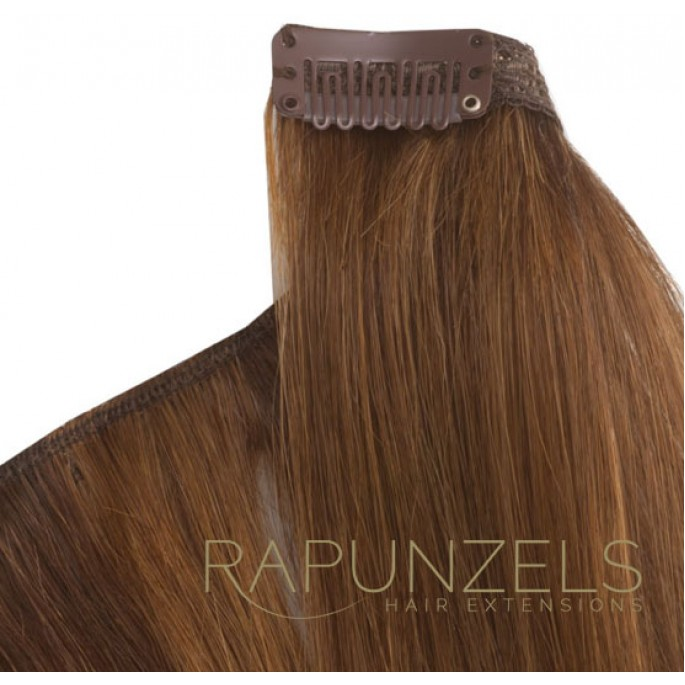 100 Gram 20 Clip In Hair Extensions Colour 8 Light Golden Brown 7