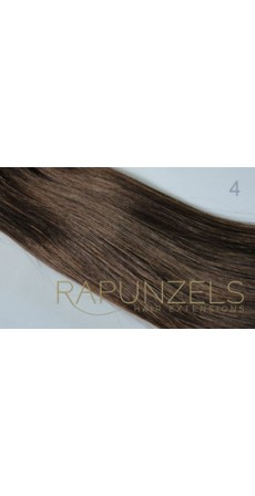 "0.5 Gram 18"" Pre Bonded Nail Tip Colour #4 Medium Chocolate Brown (25 Strands)"