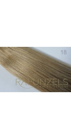 "0.5 Gram 16"" Pre Bonded Nail Tip Colour #18 Dark Beige Blonde (25 Strands)"