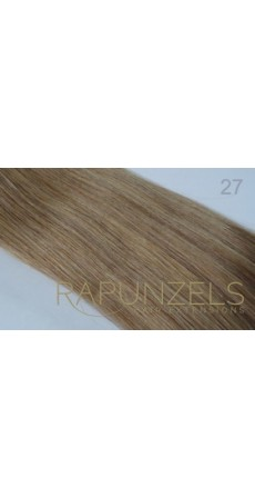 "0.5 Gram 20"" Pre Bonded Nail Tip Colour #27 Warm Honey Blonde (25 Strands)"