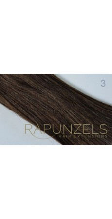 "1 Gram 20"" Pre Bonded Nail Tip Colour #3 Dark Brown (25 Strands)"