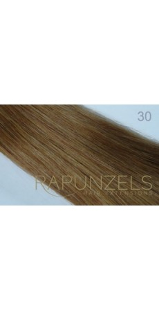 "0.5 Gram 16"" Pre Bonded Nail Tip Colour #30 Light Auburn (25 Strands)"